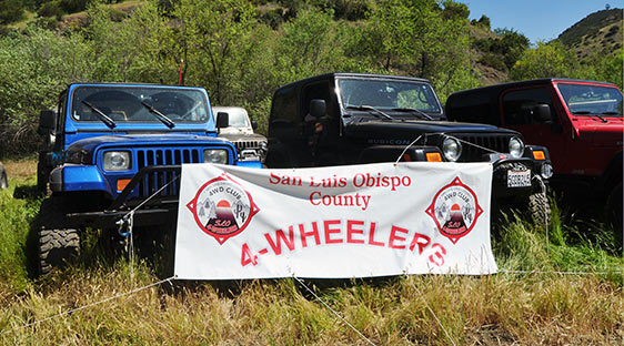 Photo of Jeeps and San Luis Obispo County 4-Wheelers banner